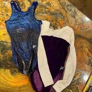 GK lot of 2 Leotards juniors small blue purple